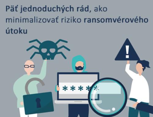Päť jednoduchých  rád, ako minimalizovať riziko ransomvérového útoku